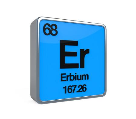 isotope: Erbium Element Periodic Table Stock Photo