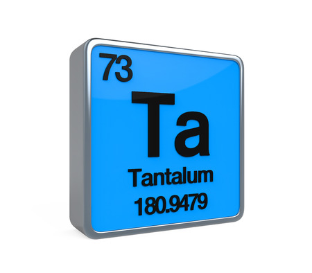Tantalum Element Periodic Table Stock Photo