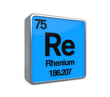 noble gas: Rhenium Element Periodic Table Stock Photo