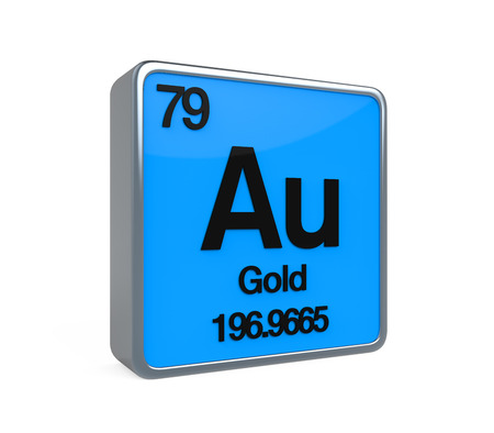 periodic: Gold Element Periodic Table Stock Photo