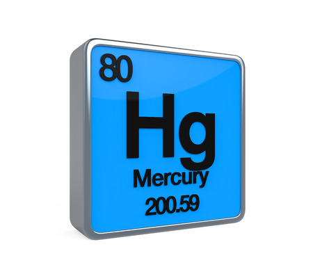 isotope: Mercury Element Periodic Table Stock Photo