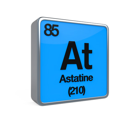 isotope: Astatine Element Periodic Table Stock Photo