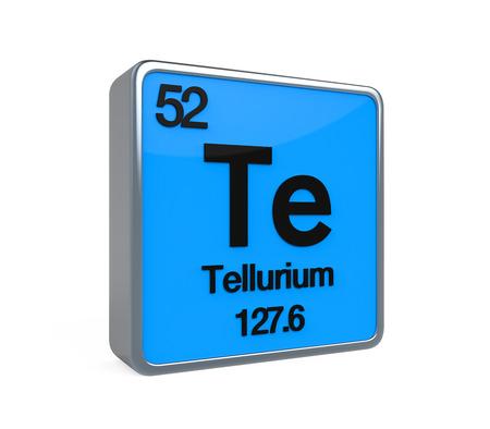 isotope: Tellurium Element Periodic Table Stock Photo