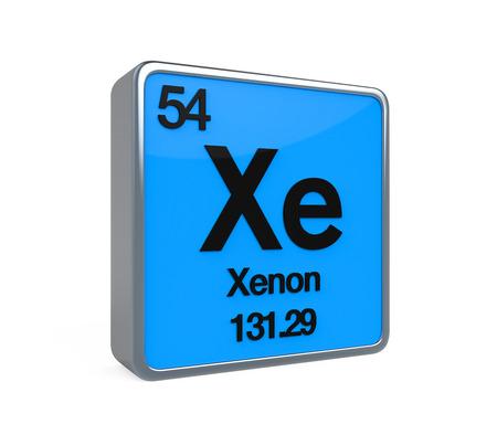 xenon: Xenon elemento de tabla peri�dica Foto de archivo