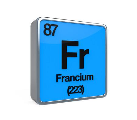 noble gas: Francium Element Periodic Table Stock Photo