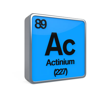 noble gas: Actinium Element Periodic Table Stock Photo