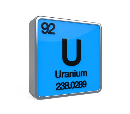 uranium: Uranium Element Periodic Table Stock Photo