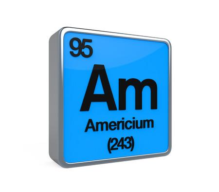 noble gas: Americium Element Periodic Table Stock Photo