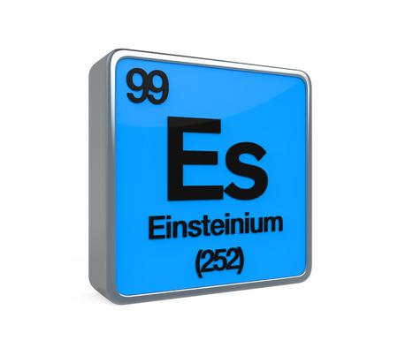 noble gas: Einstenium Element Periodic Table Stock Photo