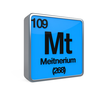 isotope: Meitnerium Element Periodic Table Stock Photo