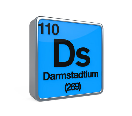 isotope: Darmstadtium Element Periodic Table Stock Photo
