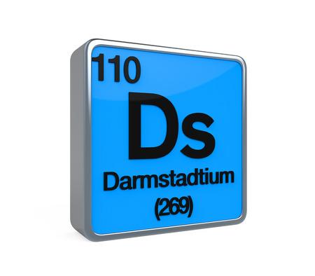 noble gas: Darmstadtium Element Periodic Table Stock Photo