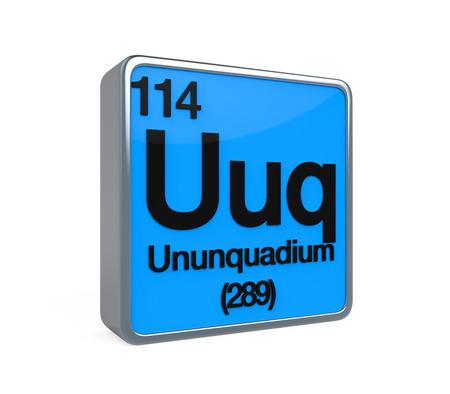 graphic flerovium: Ununquadium Element Periodic Table Stock Photo