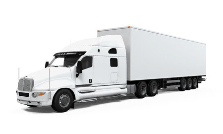 truck tractor: Cargo Delivery Truck Stock Photo