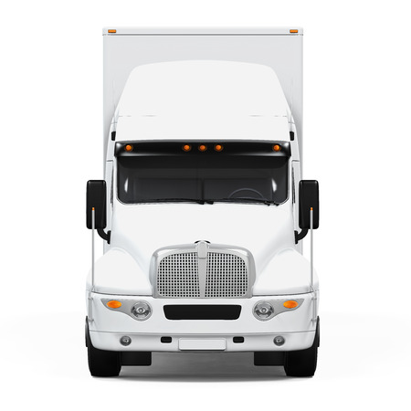 white truck: Cargo Delivery Truck Stock Photo