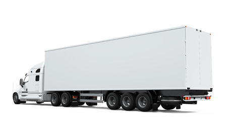 freight: Cargo Delivery Truck Stock Photo