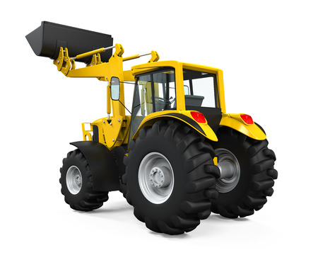 Yellow Tractor Loader