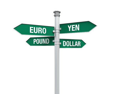 economic recovery: Direction Sign of  Currency