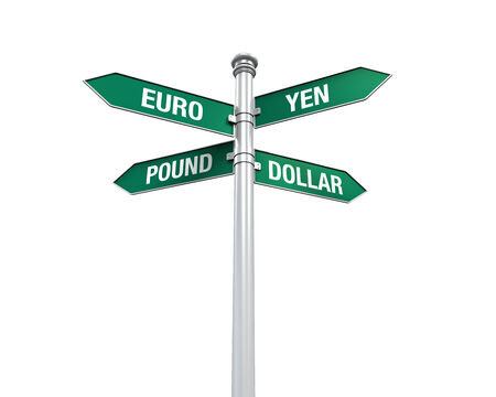 Direction Sign of  Currency photo