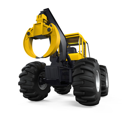 grapple: Grapple Skidder Isolated