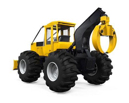 forestry industry: Grapple Skidder Isolated