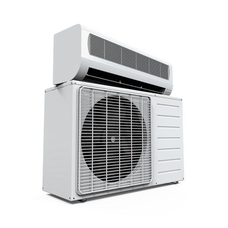 acclimatization: Air Conditioner Isolated
