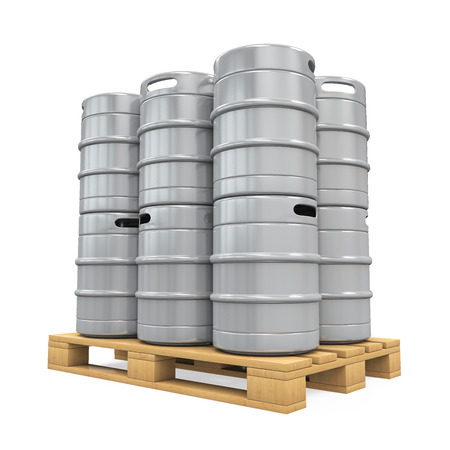 beer barrel: Pallet of Beer Kegs