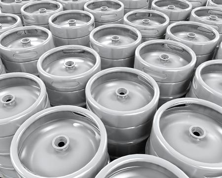 Pallet of Beer Kegs photo