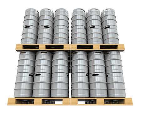 kegs: Pallet of Beer Kegs