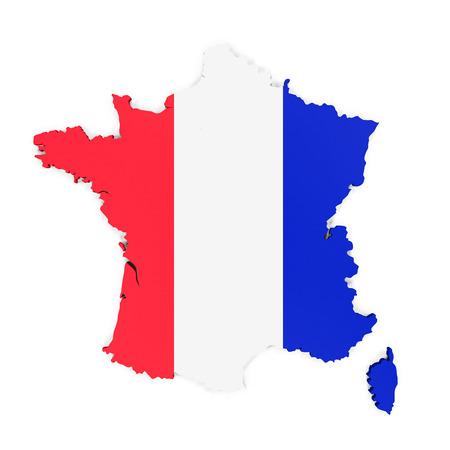 bandera blanca: Mapa de Francia
