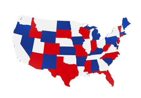 3d virginia: Map of the United States of America