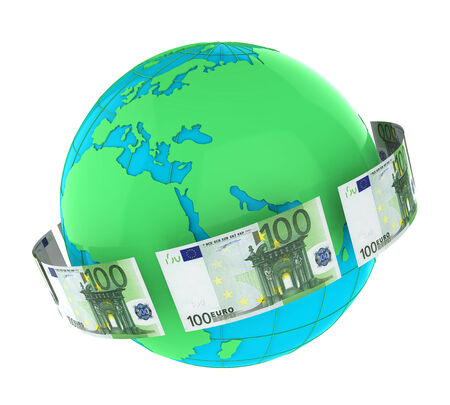 european exchange: Money Flying Around the World