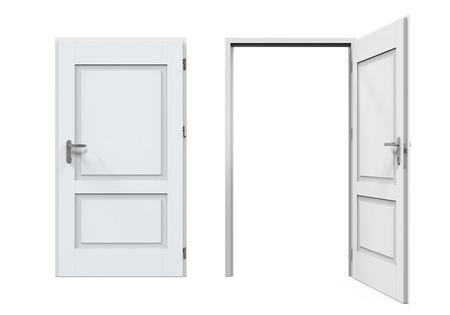 Cerrado y puertas abiertas aisladas