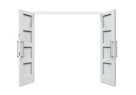 Portes ouvertes isolées Banque d'images - 34073091