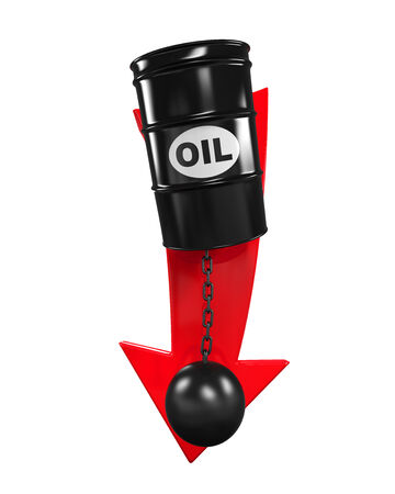 dropping: Oil Prices Dropping Illustration