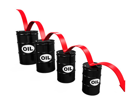 oil drum: Oil Prices Dropping Illustration