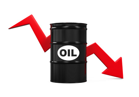 Oil Prices Dropping Illustration