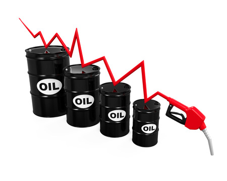 crude: Oil Prices Dropping Illustration