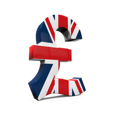 saving bank: Pound Symbol with Flag