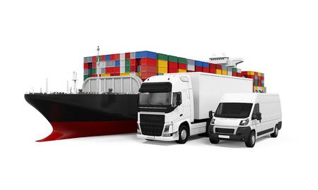 world wide: World Wide Cargo Transport Illustration