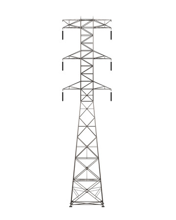 electricity pole: Power Transmission Tower Stock Photo