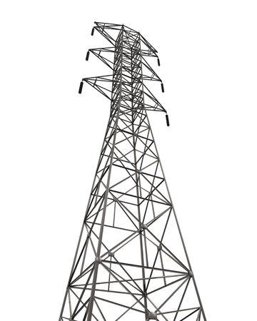 powerline: Power Transmission Tower Stock Photo