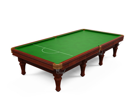 snooker room: Snooker Table Isolated Stock Photo