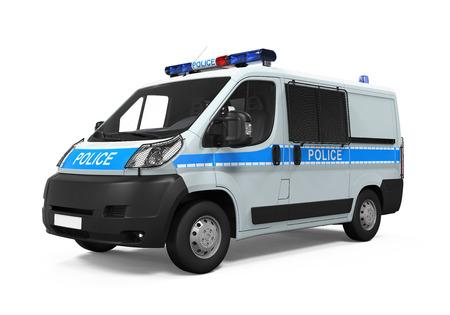 a patrol: Police Car Isolated