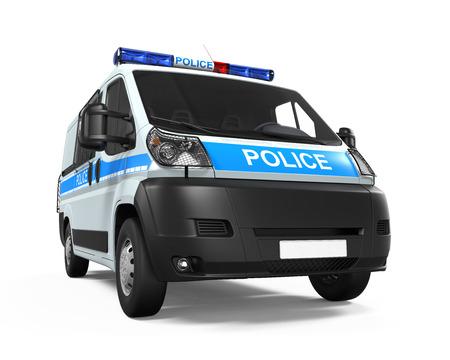 light duty: Police Car Isolated
