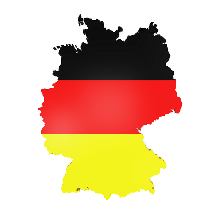frankfurt: Map of Germany Stock Photo