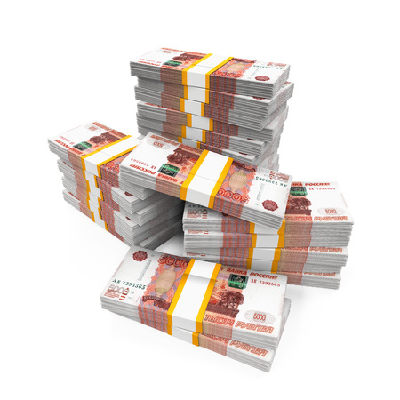 ruble: Stack of Russian Ruble Stock Photo