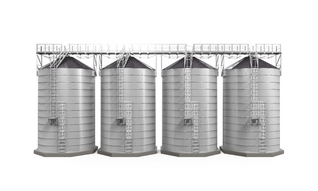 country farm: Agricultural Silo Isolated