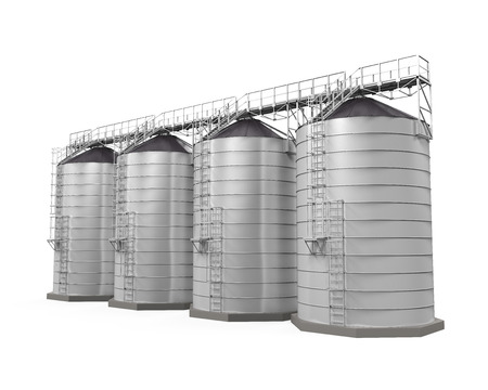 grain fields: Agricultural Silo Isolated