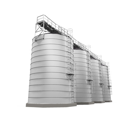 agricultural: Agricultural Silo Isolated